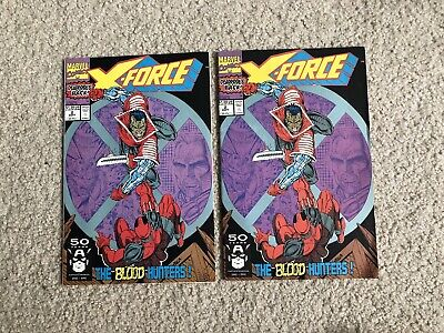 X-Force #2 Set Deadpool 2nd Appearance , Cable, Liefeld 1991 VF