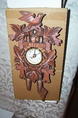 Christmas!Germany,Black Forest,Cuckoo,Kuckucksuhr Swing Wall Quartz Clock,Bird