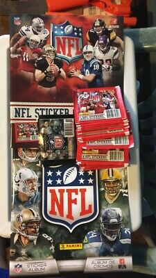 Panini NFL 2010 And 2014 Sticker Album And 29 Packs Of Stickers