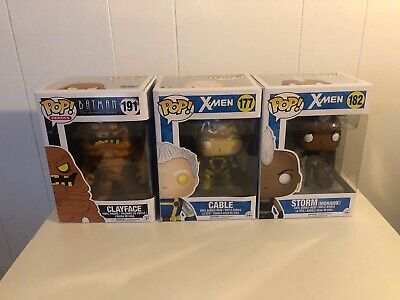 Funko Pop Lot Marvel 177 Cable 182 Storm & Heroes Batman Animated 191 Clayface