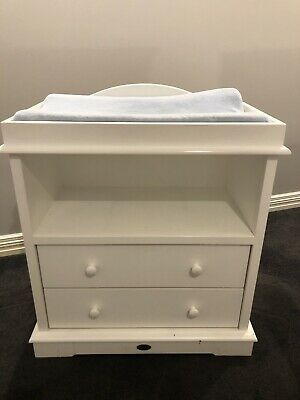 Boori White Baby Change Table with Two Drawers