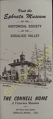 Vintage Travel Brochure Visit the Ephrata Museum of the Historical Society PA