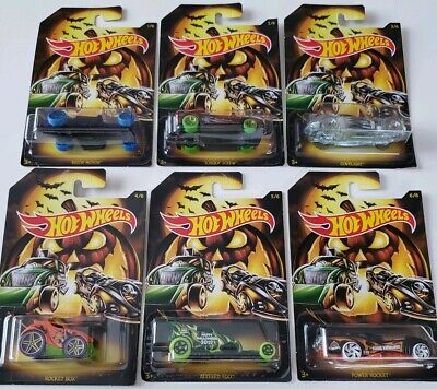 Halloween Hot Wheels 2019 Edition Holiday Series Complete Set of 6 Cars