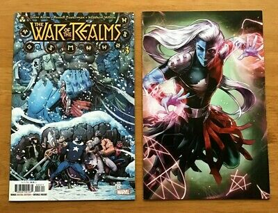 War of The Realms 3 Arthur Adams Main Cover + Heejin Jeon Variant CVR Marvel NM