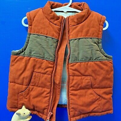 Boys Size 2 (12-24 months) All Cotton Padded Outer Vest, by Gymboree