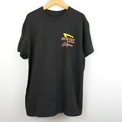 In N Out Burger T-shirt Women's Black Classic Car Drive Thru Shirt Size Small