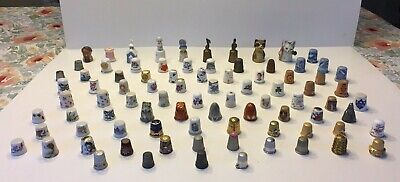 Mixed Lot Of 86 Thimbles~Disney, Sterling, Germany