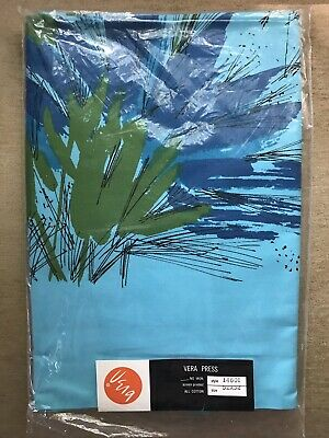 Vintage Vera Neumann Blue Tablecloth NOS in Package w Tag Never Used