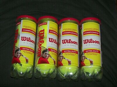 Brand New Wilson Championship Extra Duty Tennis Ball (4-Cans), Yellow