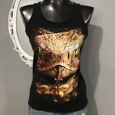 SPIRAL DIRECT SERPENT TATTOO T-SHIRT//Snake//Tribal//Goth//Skull//Halloween//Rock//Top