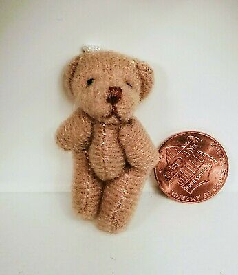 Dollhouse Miniature Super Soft Brown Teddy Bear 1:12 scale mini toybox toy bear
