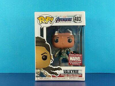 Valkyrie Funko Pop Vinyl Avengers Endgame Marvel Collector Corps Exclusive #483