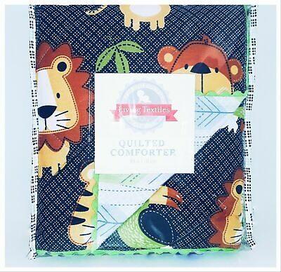 Living Textiles Jabali Quilted Comforter Boys Baby Cot Blanket NEW