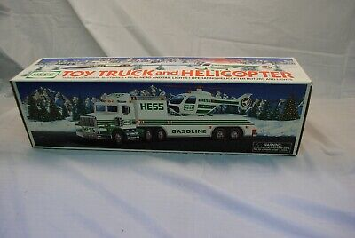Hess 1995 Toy Truck and Helicopter with Box