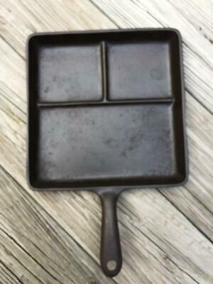 Wagner Ware Cast Iron Bacon Egg Breakfast Skillet 1101 Griddle Camping Cookware