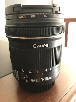 Canon EFS 10-18mm f/4.5-5.6 IS STM lens - Used - As New Condition