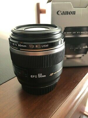 Used Canon EF-S 60mm f/2.8 Macro USM Lens - Excellent Condition