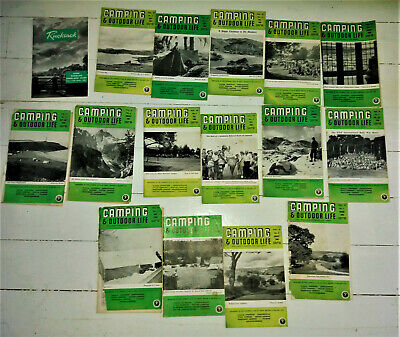 1960s  magazines 'Camping and Outdoor life' old school, tips, adverts, Joblot 16