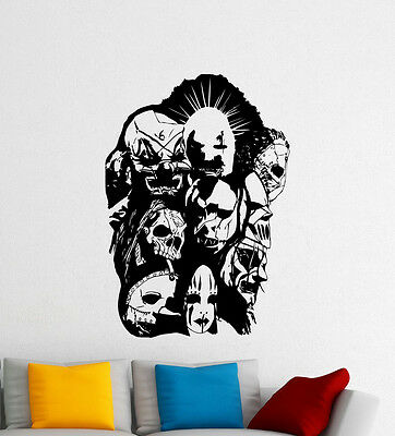 """REMOVABLE Slipknot LOGO 36/"""" WIDE LARGE WALL VINYL DECAL YOUR CHOICE OF COLOR"""