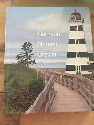Garrison Noreen Brewer Managerial Accounting Fifteenth Addition As New Hardcover