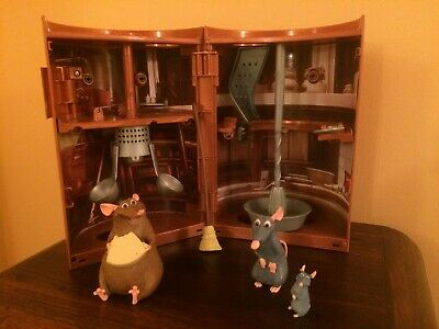 Disney Pixar Ratatouille Kitchen Sewer Chaos Playset With 3 X Figures
