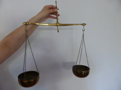 Vintage Brass and copper weighing scales
