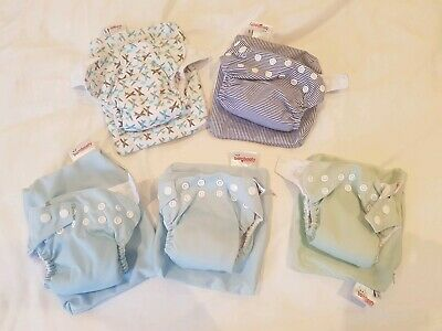 5 X Small (S) Bambooty Modern Cloth Nappies (MCNs)
