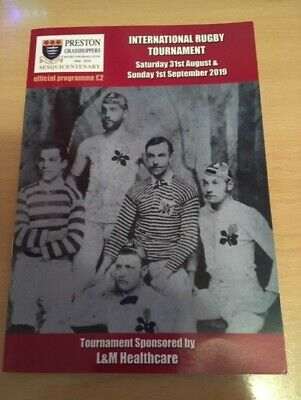 2019 Preston Grasshoppers Rufc International Rugby Tournament Programme
