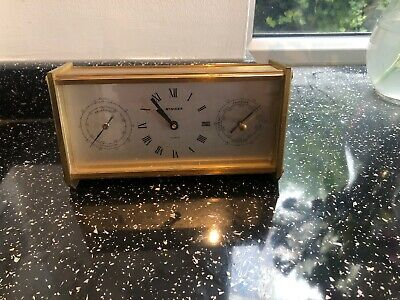 Stylish Vintage   1960 - 1970 German Mantle Clock With Barometer & Thermometer