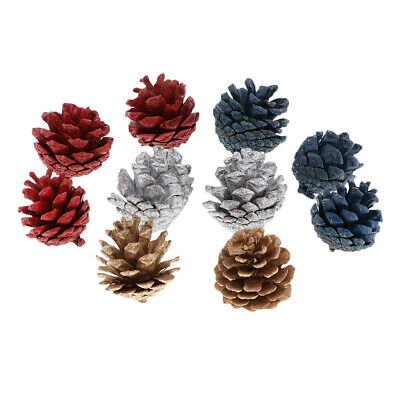 10x Big Natural Colored Pine Cones In Bulk Dried Flower For Christmas Decor