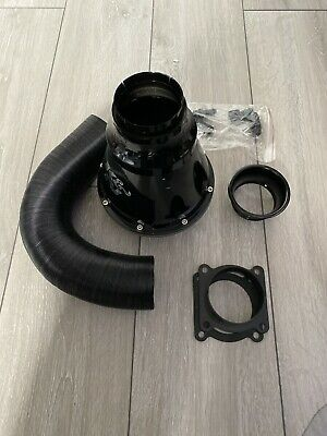 K&N  Universal Apollo Closed Air Intake System Black 70mm