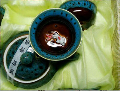 3D Koi Fish Kung Fu Tea Cup Tea Ceremony Teapot Matcha Cup Set 7pcs