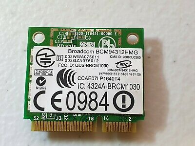 BroadCom BCM94312HMG BCM4312 Half Mini PCI-E WLAN Card for Dell notebooks