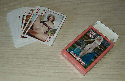 Playing cards deck Pin-up nude girl in the village 54 models RARE