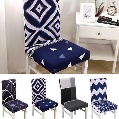 Stretch Cotton Removable Kitchen Bar Dining Room Chair Protector Cover Slipcover