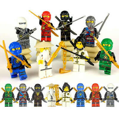 8 Pcs NINJA WU Lloyd Zane Kai Cole Jay NYA Hero Building Block Movie Toy Bricks