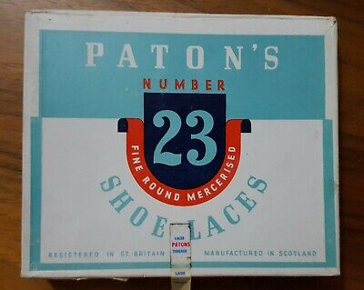 PATONS SHOELACES boots shoes Vintage Collectable rare advertising unused display