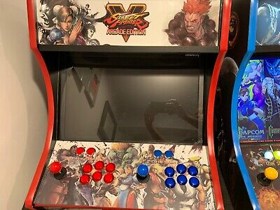 Street Fighter Themed Bartop Arcade Cabinet Over 12000 games Raspberrypi