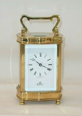 Superb, Imperial 8 Day Solid Brass Carriage Mantel Mantle Clock