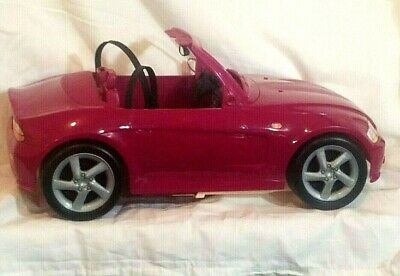 Barbie Glam Style Convertible Sports Car Pink Two Seater Car Realistic Design