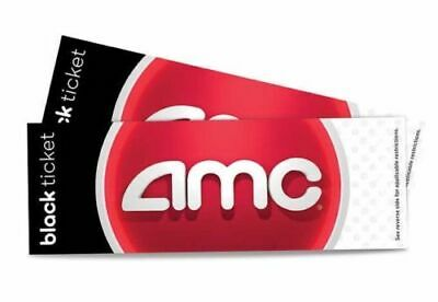 2 AMC Theater Black MOVIE TICKETS E-DELIVERY
