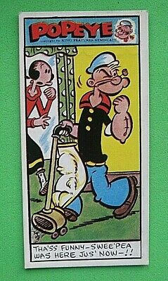 POPEYE (2nd SERIES) - PRIMROSE CONFECTIONERY - 1961 - X 1 CARD  -  # 3