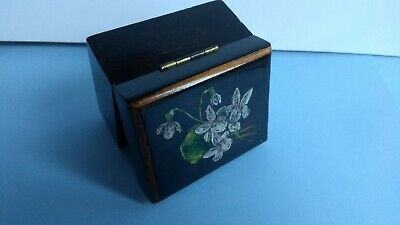 Antique Hand Painted Wooden Stamp Box
