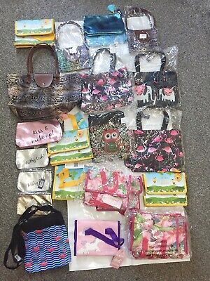 Wholesale Joblot Bnwt Canvas Cross Body Tote Lunch Bags Makeup Bags X 26