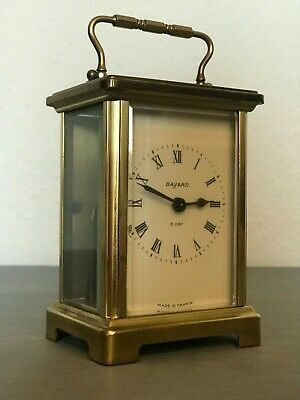 Vintage French Bayard 8 Day Brass Carriage Clock - NEEDS SERVICE