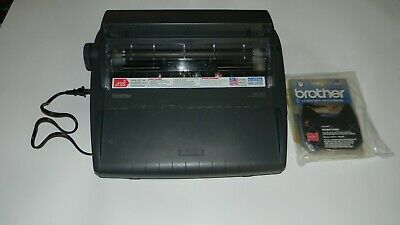 Brother AX-425 electric typewriter tested- manual included
