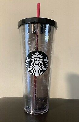 NEW Starbucks Spiderweb Glitter Tumbler Cup Limited Edition Halloween Fall 2019