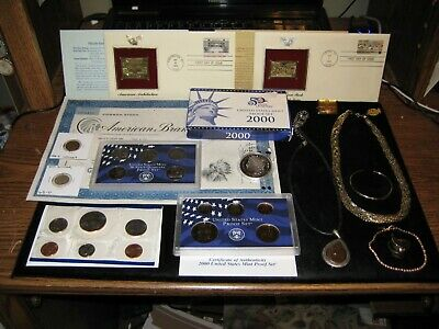 JUNK DRAWER Coin Lot 2000 PROOF Set MINT SET SILVER Gold Stamp Old Coins JEWELRY