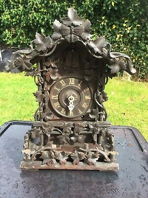Black Forest Wood Plate Shelf Cuckoo Clock Circa 1865 Possible Beha  Or Ketterer