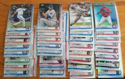 2019 Topps Chrome Refractors fill your set you pick choice 3.33 flat shipping